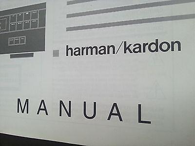Harman Kardon HD 7225/7325/7425 Original Bedienungsanleitung, Owner`s Manual.