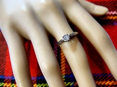 18ct gold second hand antique victorian cut diamond ring
