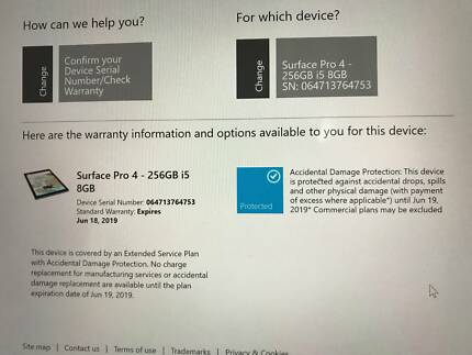 Microsoft Surface Pro 4 8gb 256gb Tablet Great Condition Warranty