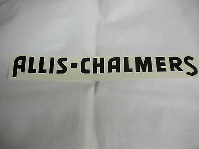 Allis Chalmers Decal Black 2 1/4