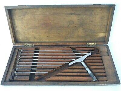 Vintage Brown Sharpe No. 608 Depth Micrometer 0 To 9 In Original Wood Box