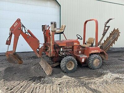 1997 Ditch Witch 3610 Trencher Backhoe 2 Post Rops 4x4 2035 Hrs 37 Hp Duetz