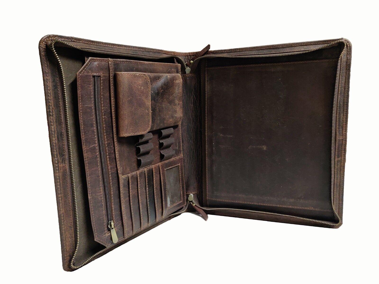 Buffalo Leather Portfolio Executive Padfolio A4 Letter Folde
