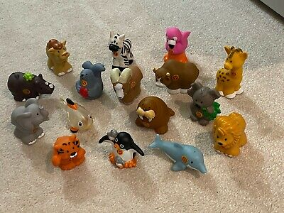 Fisher Price Little People A To Z Learning Zoo Alphabet 16 Different Animals Lot