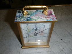 Bulova Mantel Quartz Floral Clock Takan For Shelf, Living Room, Bedside Table