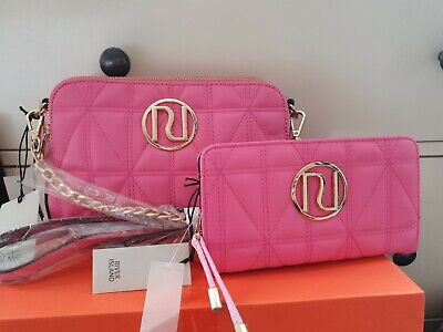 Bnwt Hot Pink Quilted River Island Shoulder Bag And Purse