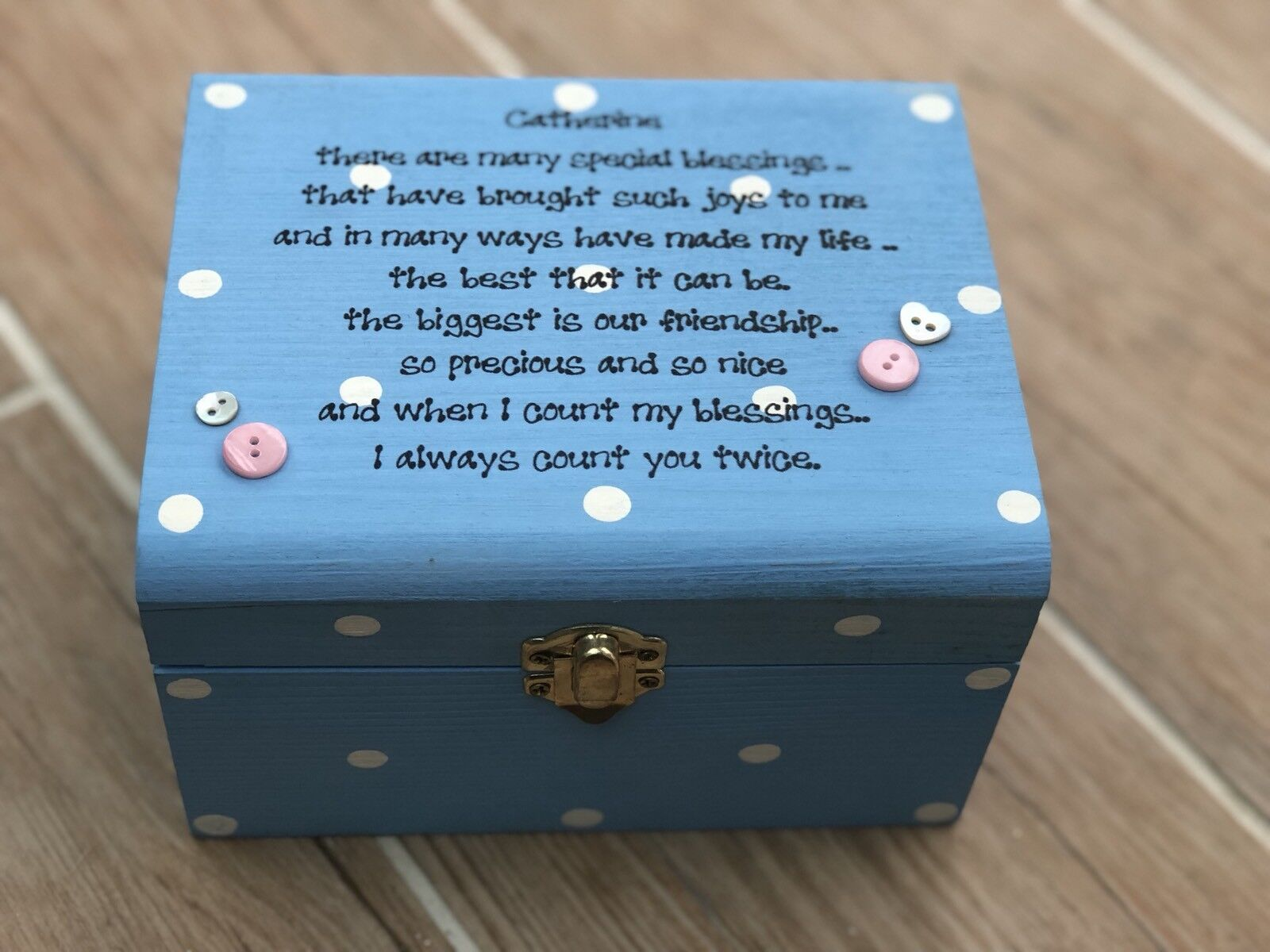 Shabby Special Best Friend chic present Trinket jewellery gift box personalised - 254014172944