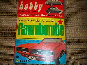 HOBBY-DAS-MAGAZIN-RIVISTA-TECNICA-25-1967-DIANE-VS-FIAT-500-DURKOPP-KNIPPERDOLL