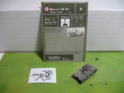 Axis & Allies Base Set Renault R-35 with card 2/48 Axis Allies Base Set