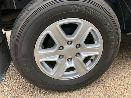 A set of Ford Ranger 6 stud alloy mag wheels and tyres (4 mags)