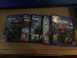 PS4 Games On Sale (Open To Trades And Negotiations)
