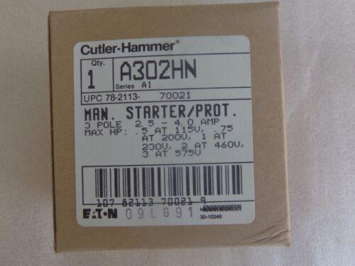 Cutler Hammer A302HN 3Pole Motor Starter