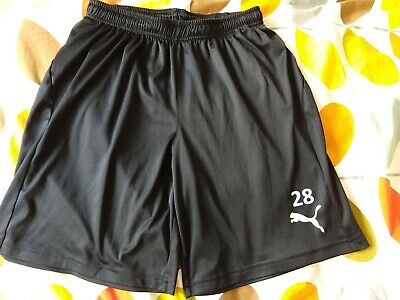 Men's Black Puma Dri-fit Sport Shorts - Size M