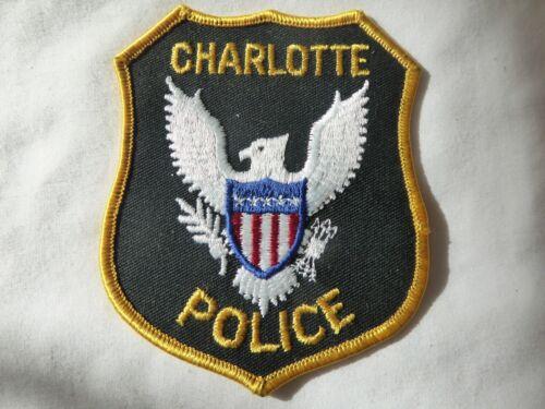 CHARLOTTE NORTH CAROLINA POLICE UNIFORM EMBLEM PATCH, NEW UNUSED!