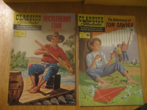 2 Piece Comic Book Lot Huckleberry Finn #19 Tom Sawyer #50 Gilberton