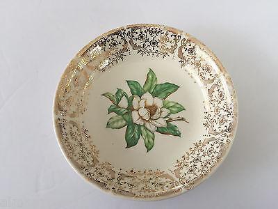Stetson China CAMILLE Gold Filigree, White Flower Center - 5-1/4