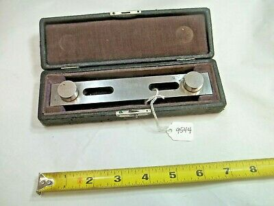 Sine Bar Taft - Peirce Machinist Sine Bar With Original Storage Case Made In Usa