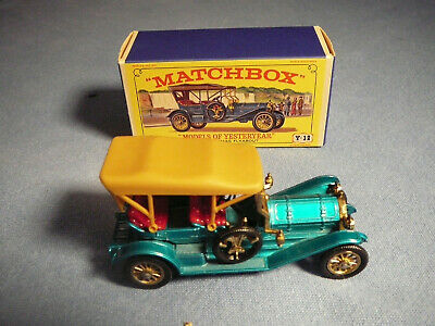 MATCHBOX LESNEY MODELS OF YESTERYEAR #Y-12 1909 THOMAS FLYABOUT, NICE, BOXED