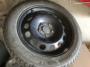 Set of 4 Michelin winter tires with rims