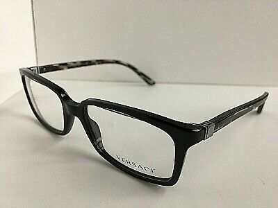 New Versace Mod. 7431 GB1 Black 53mm Men's Eyeglasses Frame Italy #2