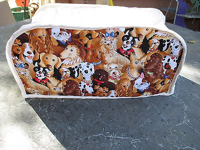 DOGS 4 SLICE OBLONG TOASTER APPLIANCE COVER, NEW