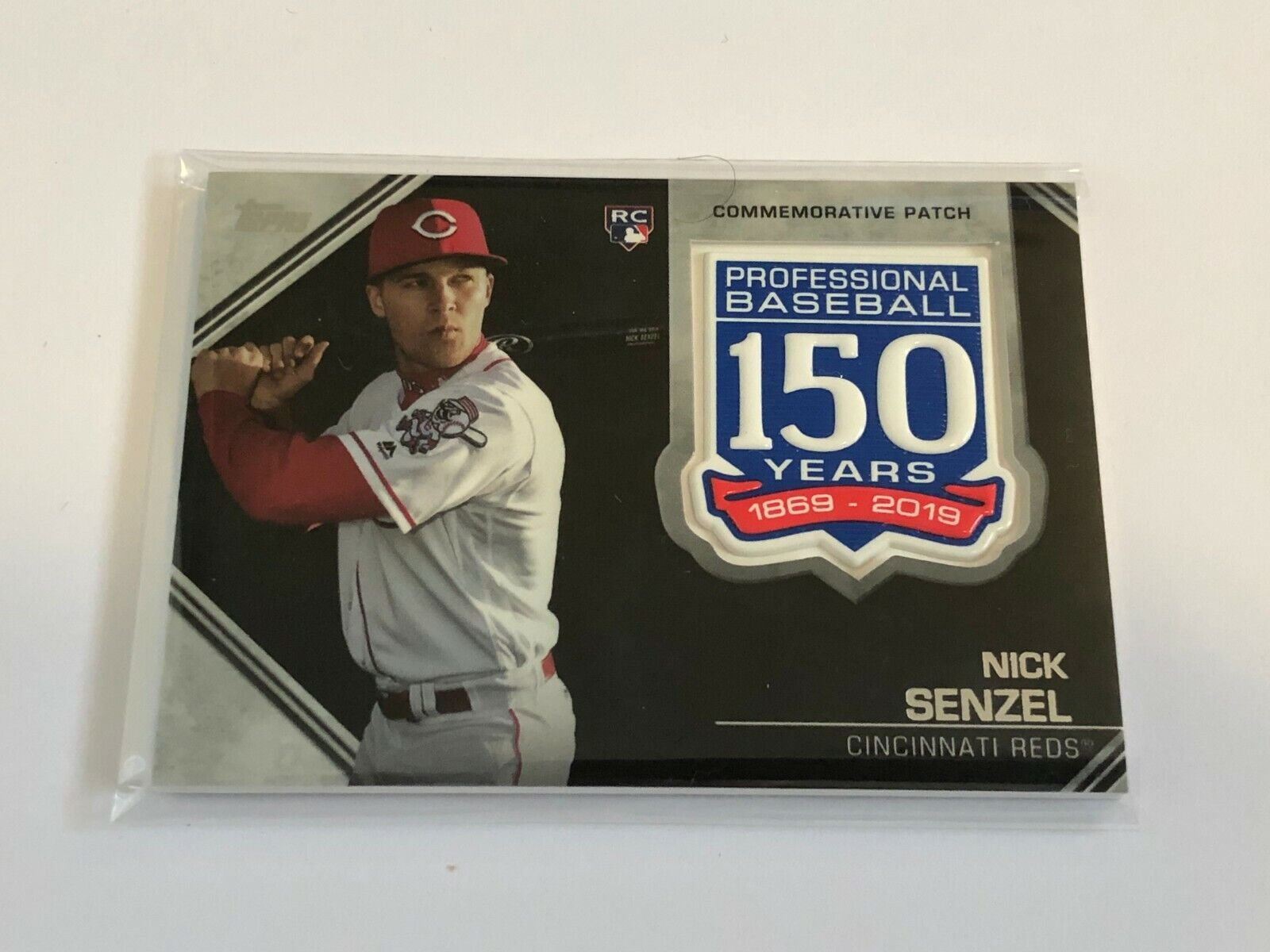 2019 Topps Update Baseball 150th Anniversary Patch - Nick Senzel RC - Reds