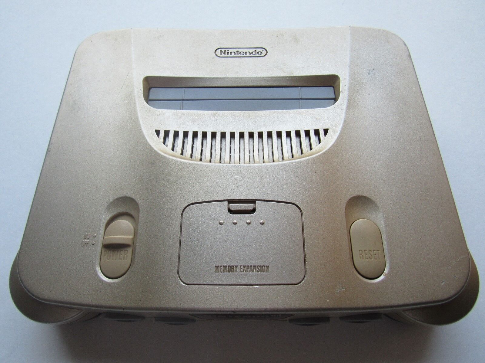 *GOOD* Nintendo 64 N64 OEM Video Game Console System Funtastic Pokemon Gold Rare Gold *Console & Jumper* USA RELEASE