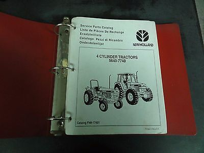 Ford 4-cylinder Tractors 5640-7740 Service Parts Catalog  Fnh-17451