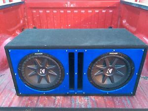 Reduced to 700$ Two new 12'inch kicker subs in custom box