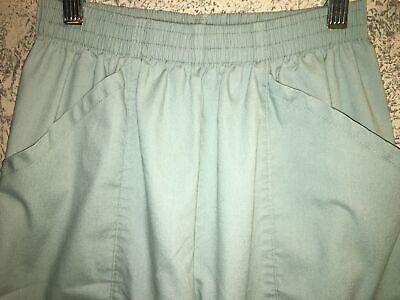 Elastic high waist mint green medical dental nurse scrubs pants short capris S Capri Nursing Pants