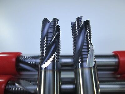 Lot 2 Pcs Carbide 38 Roughing End Mills Long Rougher Cnc Milling Tool Bits