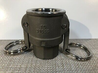 1 Ever-tite 1d 316ss Stainless Steel Hose Coupling Cam Lock Groove Coupler