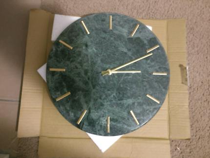 VUE marble clock new. RRP $70