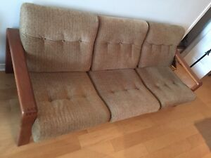 Teak Couch set, Loveseat and Chair
