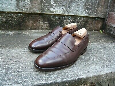 JOHN LOBB LOAFERS – BROWN – UK 8 – QUICKSTEP - EXCELLENT CONDITION