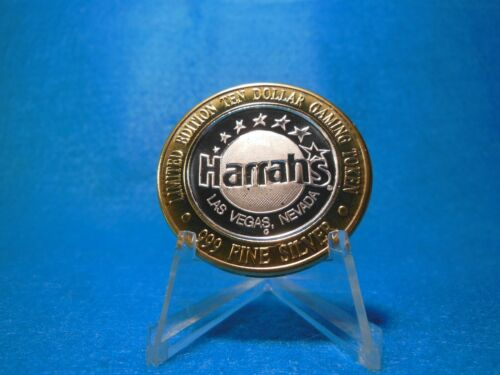 $10 Silver Strike ( .999 Silver) HARRAHS Casino Las Vegas