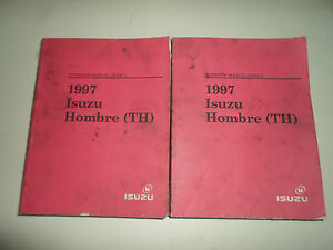 1997-Isuzu-Hombre-TH-Workshop-Service-Manual-2-VOL-SET-WORN-STAINED-BOOK-97-DEAL