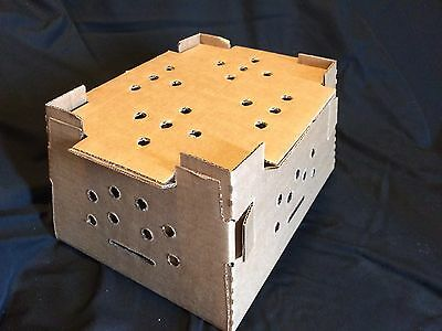 NEW! 5 Pack - Chick Shipping Box w/ Excelsior Pads. Holds 25-50 Day Old Chicks