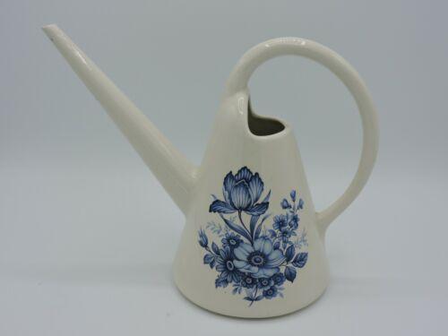 Vintage Arnels Ceramic Watering Can Blue Flowers