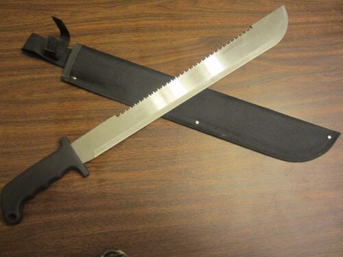 "23"" MACHETE w/18"" Serrated Blade Cutting Tool Survival Hunting Knife MACHETTE"