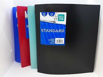 New 4 Pack Pen Gear Standard 1 3 Ring Binders 175 Sheet Capacity Each