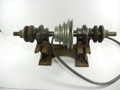 Antique Cast Iron Hit Miss Engine Machine Shop Line Shaft Grinder Arbor