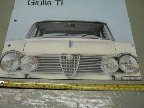 ALFA  ROMEO  GIULIA TI   BROCHURE VINTAGE ORIGINAL 1964  ITALY