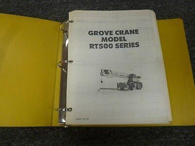 Grove Model Rt515 Rough Terrain Mobile Crane Shop Service Repair Manual