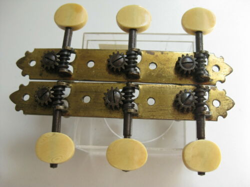 Vintage Antique Martin Bell Regal Parlor Guitar Slotted Neck Tuners for Project