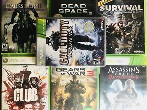 "Xbox 360 games ""cod, assasin's creed, gta"" etc."