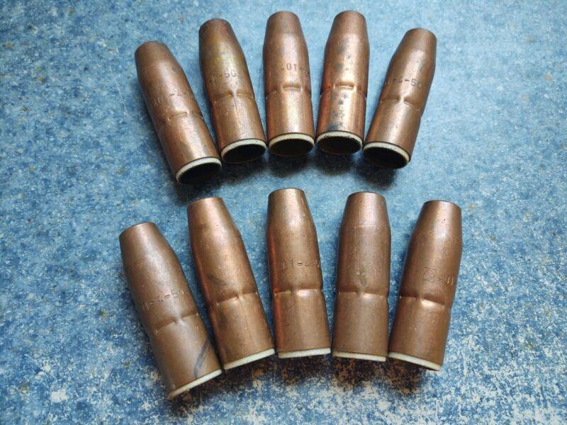 401-4-50 Nozzle MIG Gun Copper NOS lot of 10