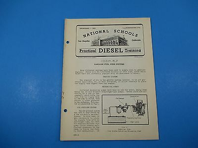 1940S Diesel Training National Schools Lesson  31 Gas Fuel Feed Systems M927