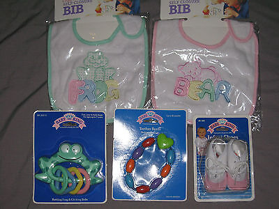 Embroidered Bibs Teether Beads Heart Rattling Frog Infant Sh