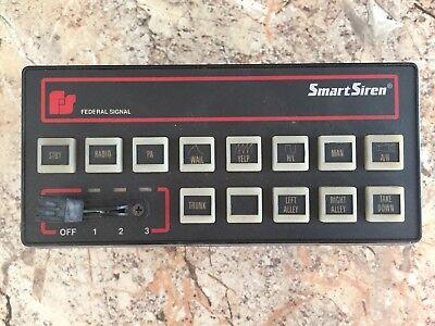 Federal Signal Smart Siren Sm Control Head W Mounting Bracket Used